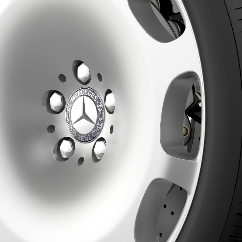 mercedes maybach wheel 3d model 3ds max fbx c4d lwo ma mb hrc xsi obj 211340