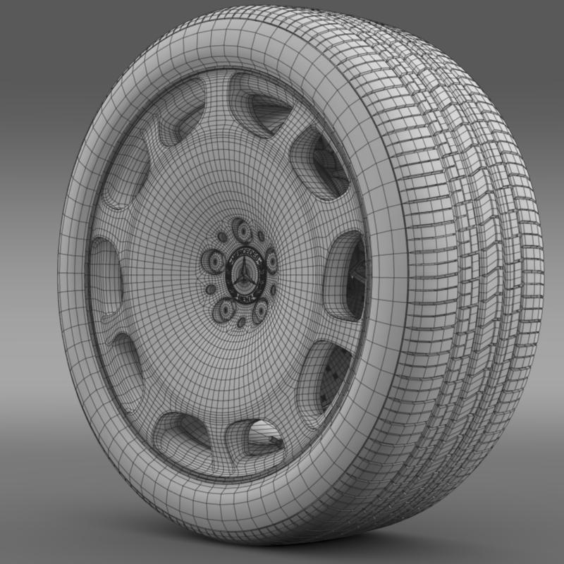 mercedes maybach wheel 3d model 3ds max fbx c4d lwo ma mb hrc xsi obj 211343