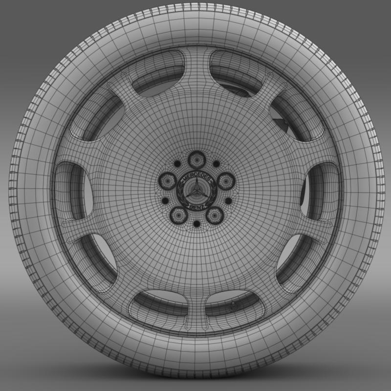 mercedes maybach wheel 3d model 3ds max fbx c4d lwo ma mb hrc xsi obj 211344