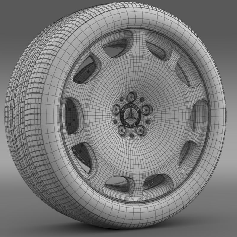 mercedes maybach wheel 3d model 3ds max fbx c4d lwo ma mb hrc xsi obj 211345