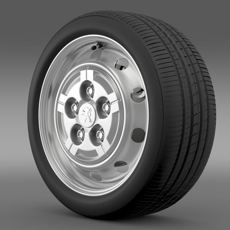 peugeot boxer van wheel 3d model 3ds max fbx c4d lwo ma mb hrc xsi obj 211353