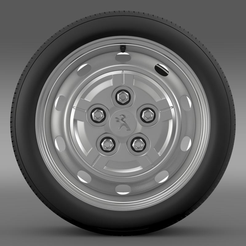 peugeot boxer van wheel 3d model 3ds max fbx c4d lwo ma mb hrc xsi obj 211354