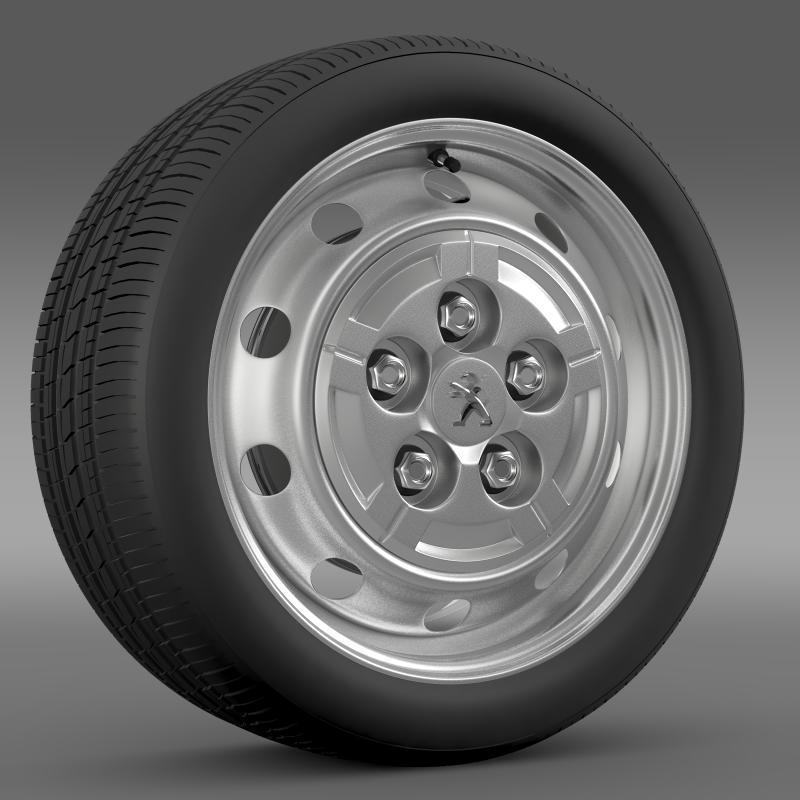 peugeot boxer van wheel 3d model 3ds max fbx c4d lwo ma mb hrc xsi obj 211355