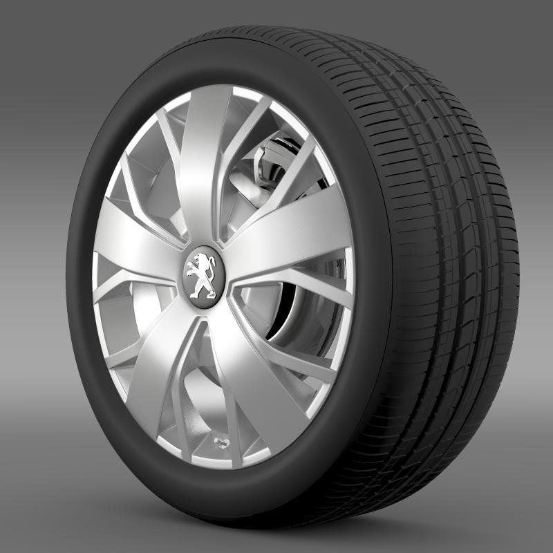 peugeot boxer wheel 3d model 3ds max fbx c4d lwo ma mb hrc xsi obj 211368
