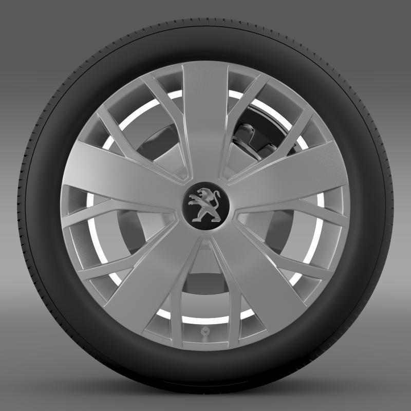 peugeot boxer wheel 3d model 3ds max fbx c4d lwo ma mb hrc xsi obj 211369