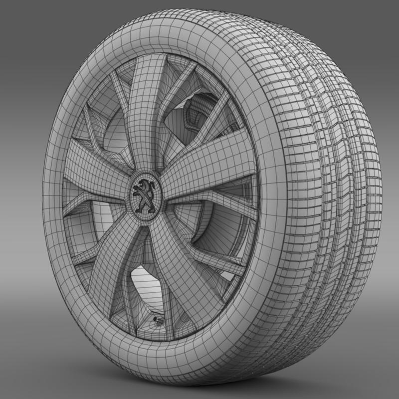peugeot boxer wheel 3d model 3ds max fbx c4d lwo ma mb hrc xsi obj 211374