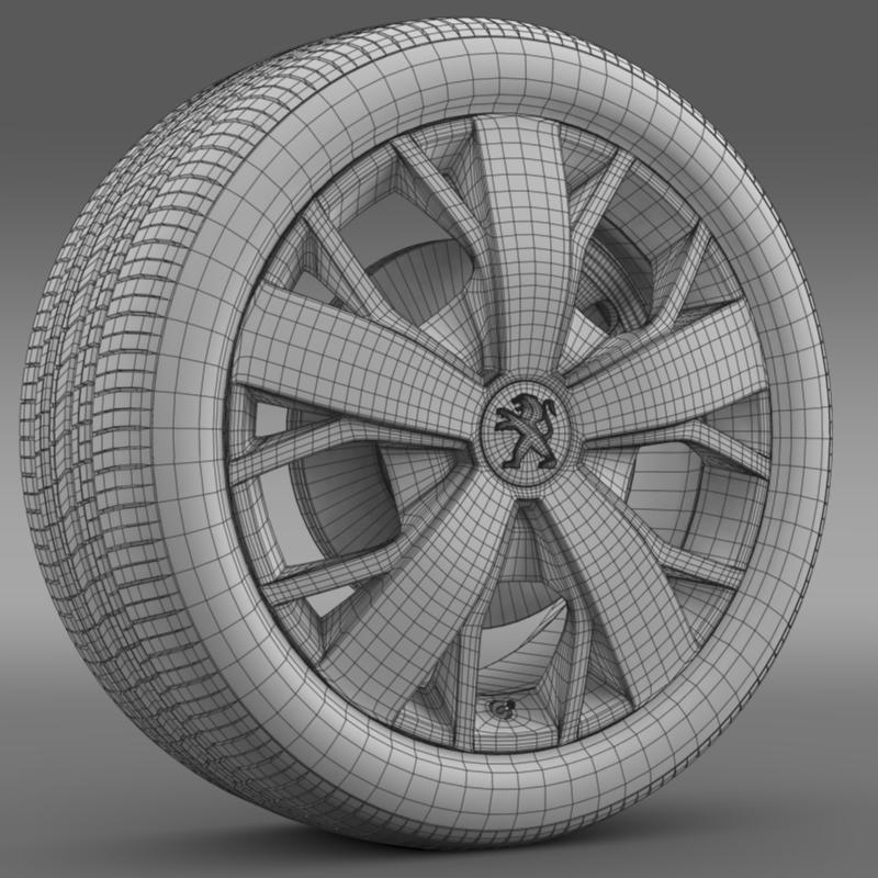 peugeot boxer wheel 3d model 3ds max fbx c4d lwo ma mb hrc xsi obj 211376