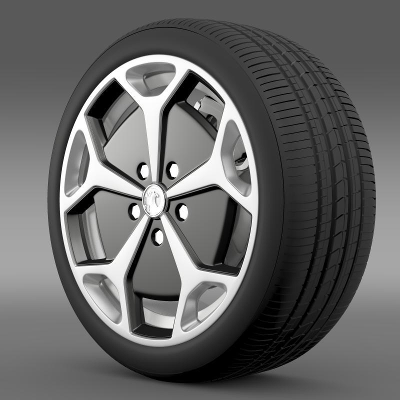 vauxhall ampera wheel 3d model 3ds max fbx c4d lwo ma mb hrc xsi obj 211383