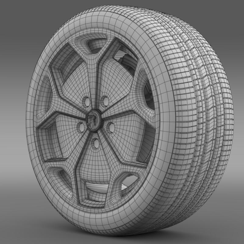 vauxhall ampera wheel 3d model 3ds max fbx c4d lwo ma mb hrc xsi obj 211389