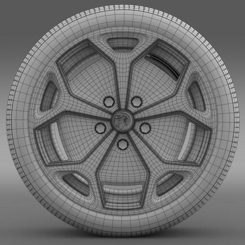 vauxhall ampera wheel 3d model 3ds max fbx c4d lwo ma mb hrc xsi obj 211390