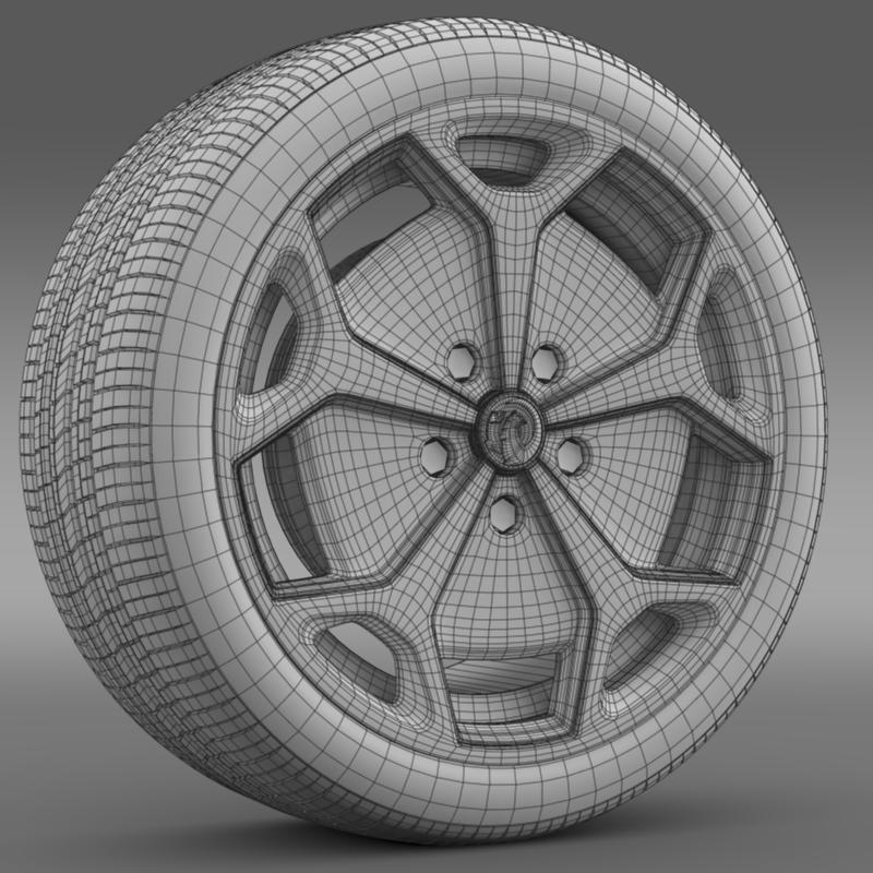 vauxhall ampera wheel 3d model 3ds max fbx c4d lwo ma mb hrc xsi obj 211391
