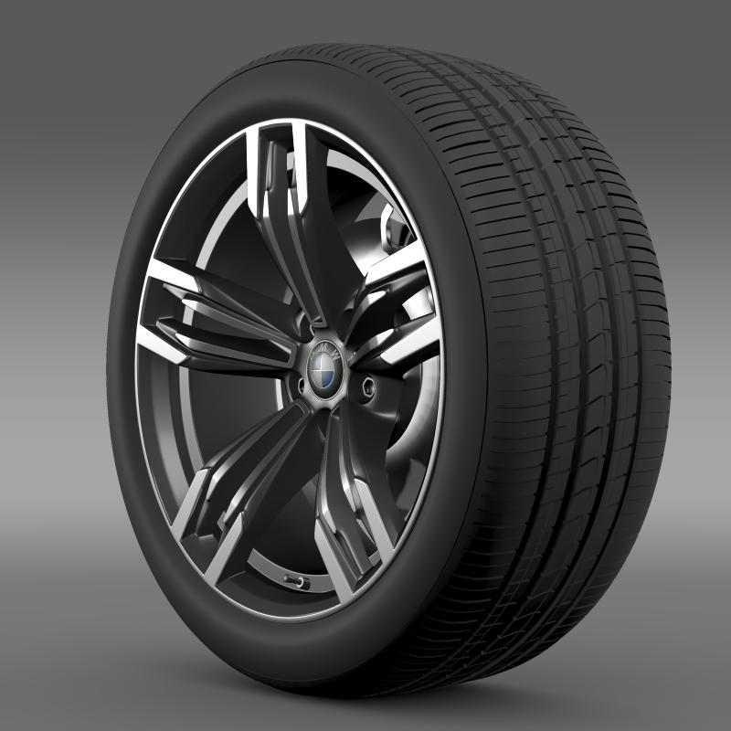bmw m6 gran coupe wheel 3d model 3ds max fbx c4d lwo ma mb hrc xsi obj 211398