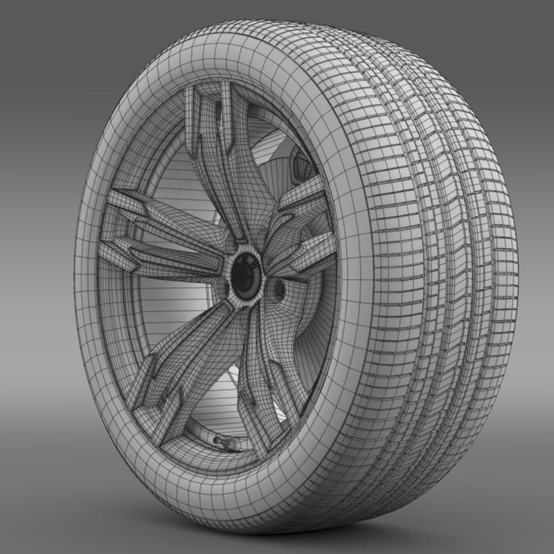 bmw m6 gran coupe wheel 3d model 3ds max fbx c4d lwo ma mb hrc xsi obj 211404