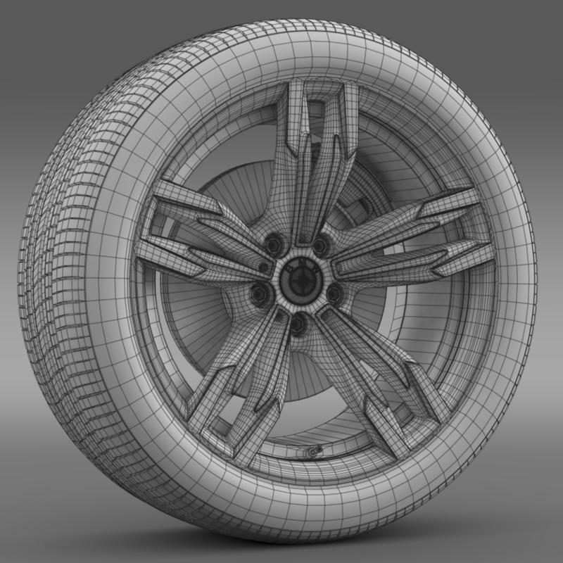 bmw m6 gran coupe wheel 3d model 3ds max fbx c4d lwo ma mb hrc xsi obj 211406