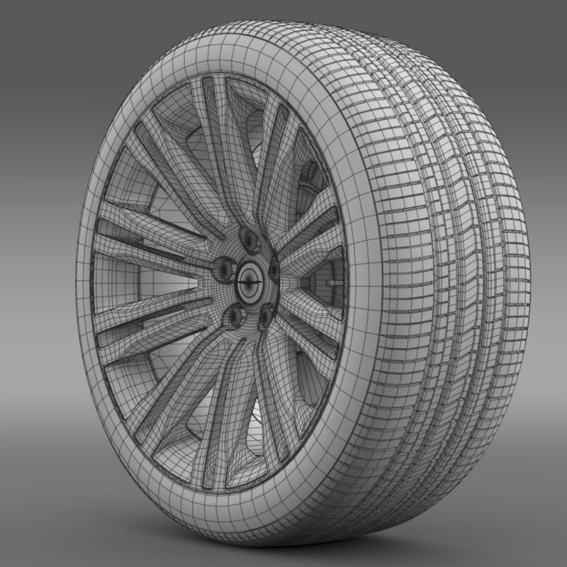chrysler 300c 2012 wheel 3d model 3ds max fbx c4d lwo ma mb hrc xsi obj 211419