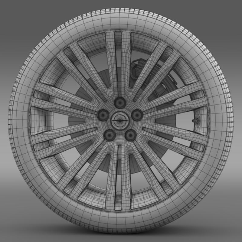 chrysler 300c 2012 wheel 3d model 3ds max fbx c4d lwo ma mb hrc xsi obj 211420