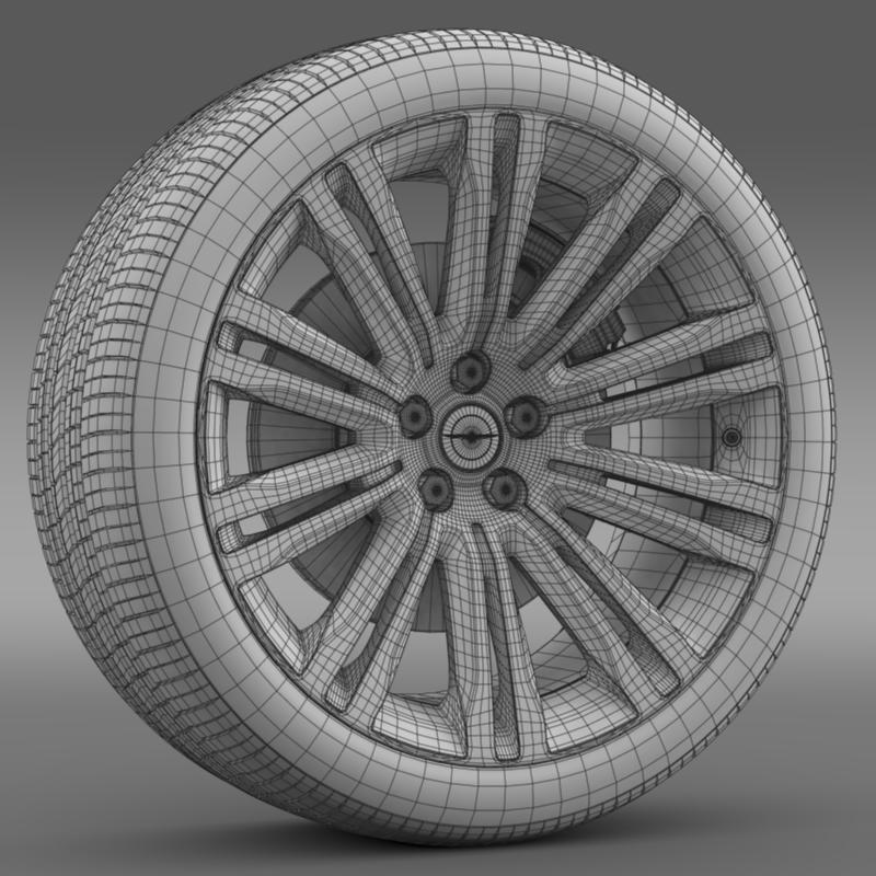 chrysler 300c 2012 wheel 3d model 3ds max fbx c4d lwo ma mb hrc xsi obj 211421