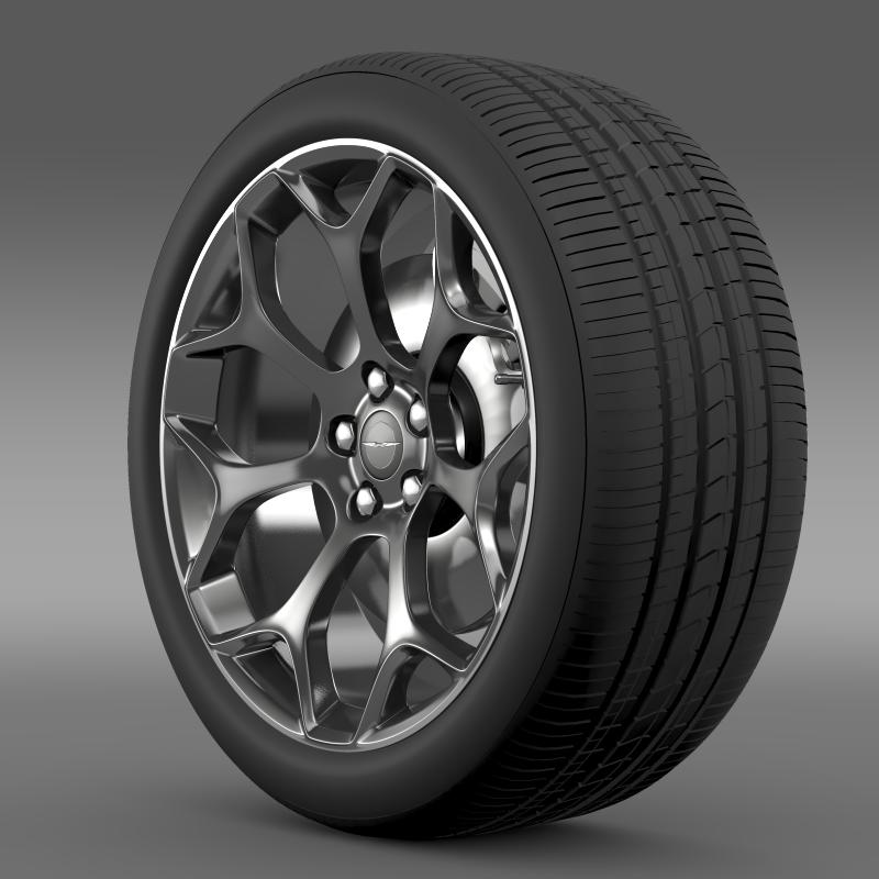 chrysler 300s 2015 wheel 3d model 3ds max fbx c4d lwo ma mb hrc xsi obj 211428