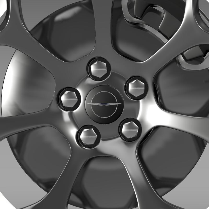 chrysler 300s 2015 wheel 3d model 3ds max fbx c4d lwo ma mb hrc xsi obj 211432