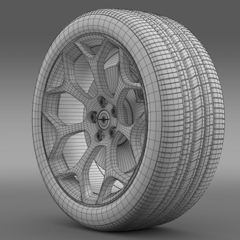 chrysler 300s 2015 wheel 3d model 3ds max fbx c4d lwo ma mb hrc xsi obj 211434