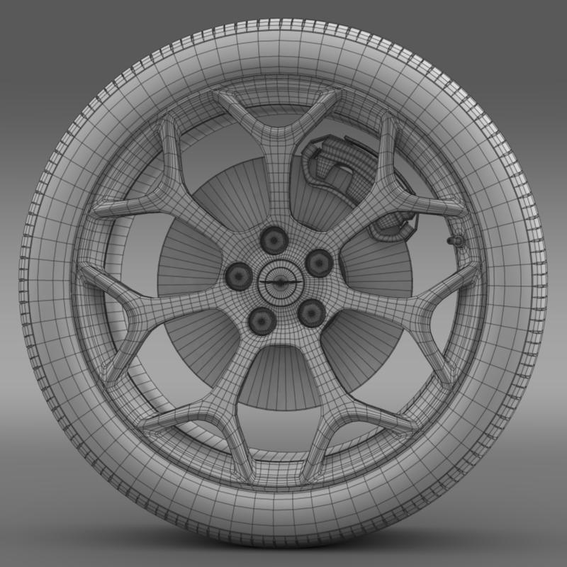 chrysler 300s 2015 wheel 3d model 3ds max fbx c4d lwo ma mb hrc xsi obj 211435