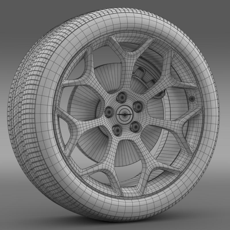 chrysler 300s 2015 wheel 3d model 3ds max fbx c4d lwo ma mb hrc xsi obj 211436
