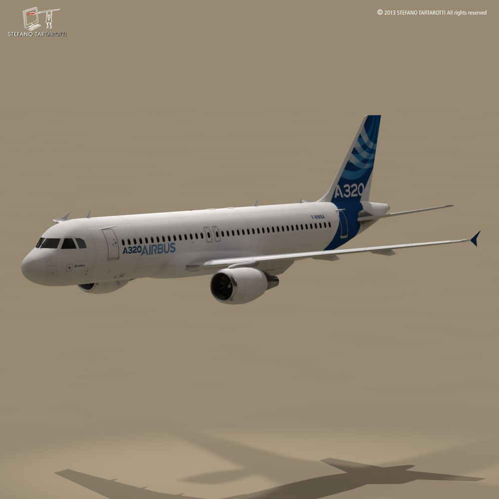 a320-200 airbus 3d загвар 3ds dxf fbx c4d dae obj 211444