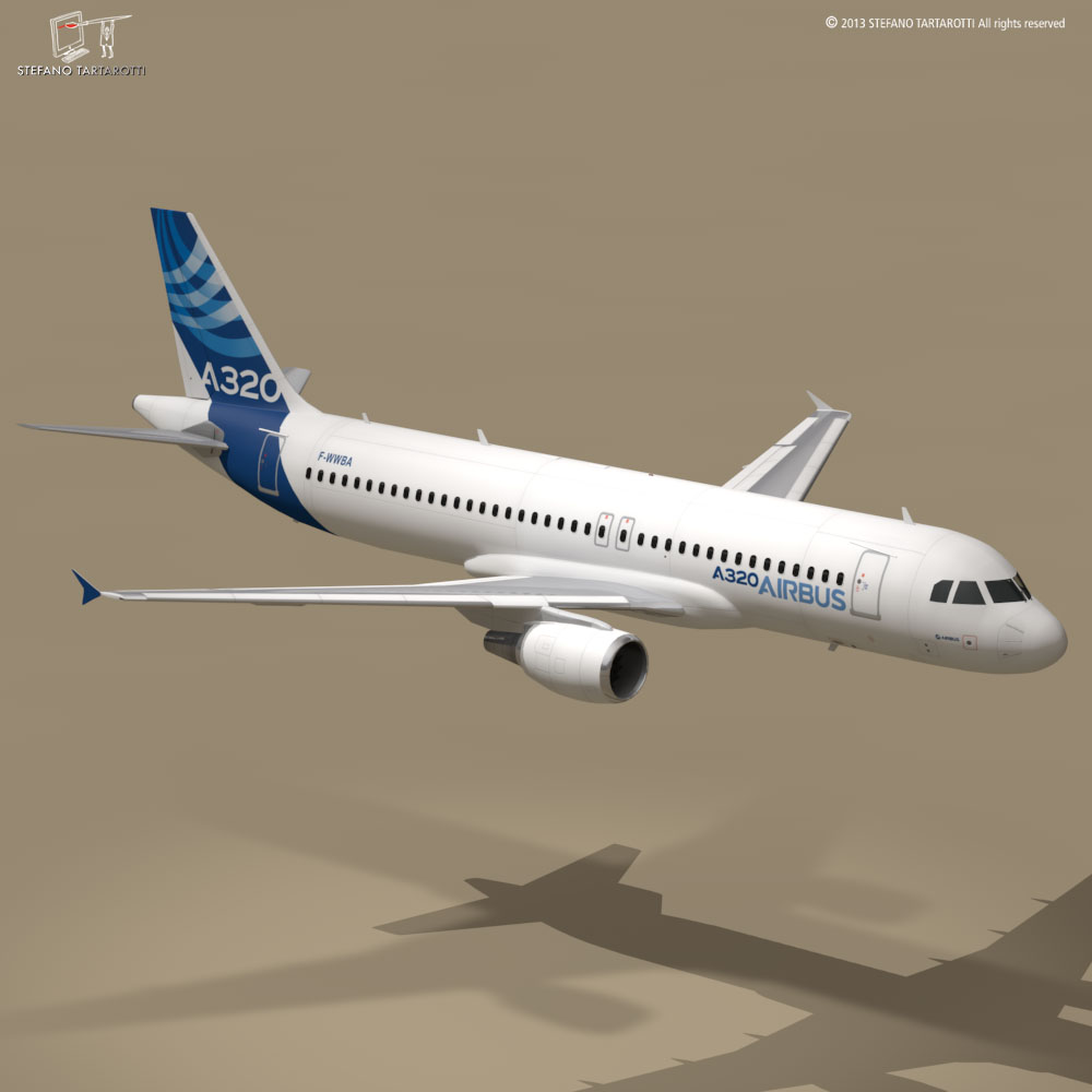 a320-200 airbus 3d загвар 3ds dxf fbx c4d dae obj 211445