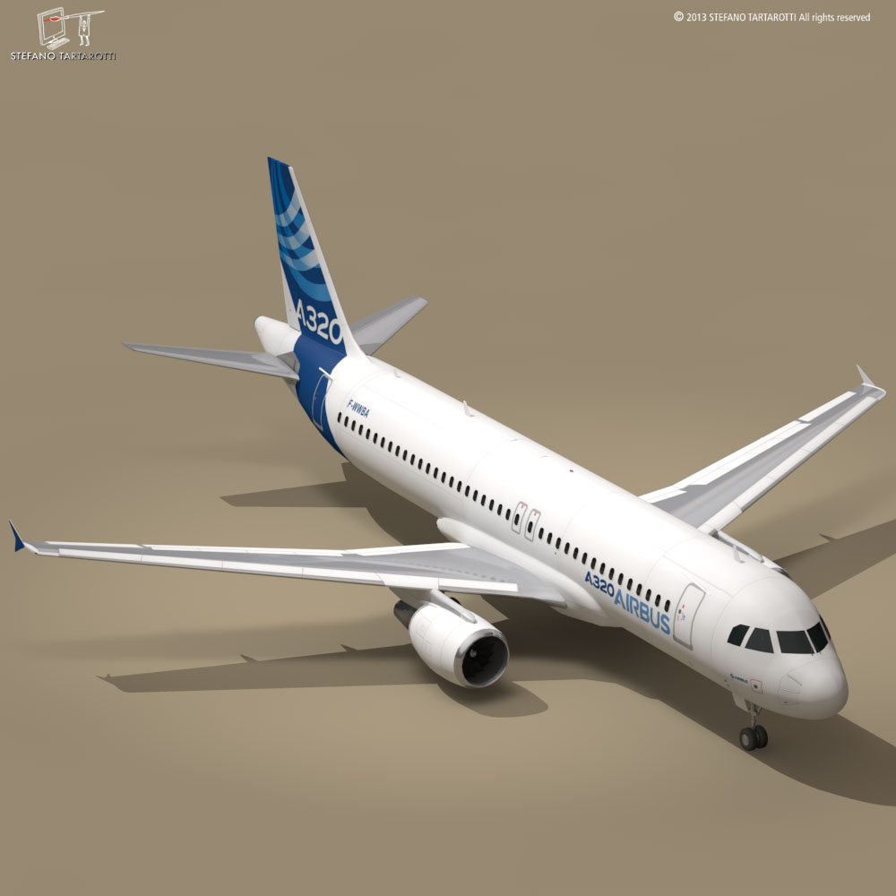 a320-200 airbus 3d загвар 3ds dxf fbx c4d dae obj 211446