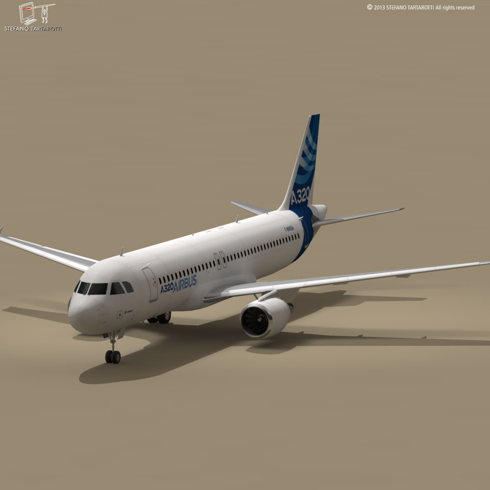 a320-200 airbus 3d загвар 3ds dxf fbx c4d dae obj 211447