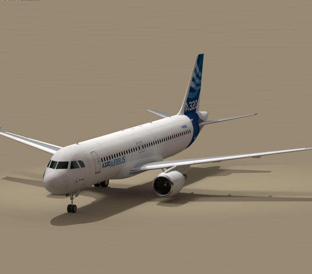 A320-200 airbus 3d model 0