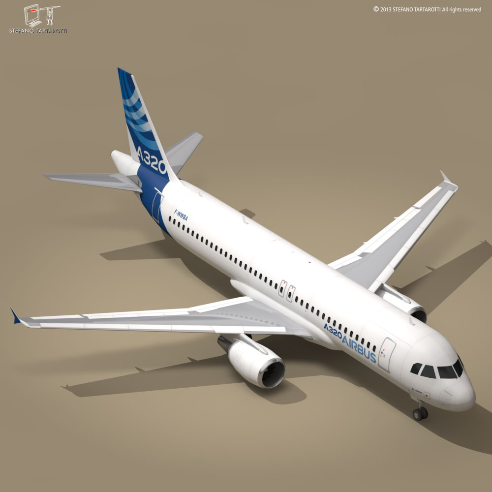 a320-200 airbus 3d загвар 3ds dxf fbx c4d dae obj 211448
