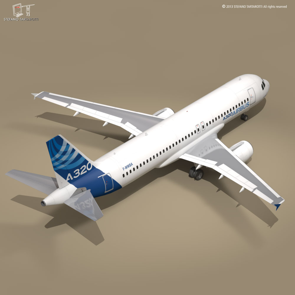 a320-200 airbus 3d загвар 3ds dxf fbx c4d dae obj 211449