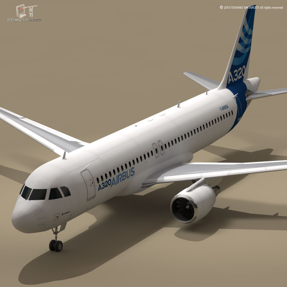 a320-200 airbus 3d загвар 3ds dxf fbx c4d dae obj 211450