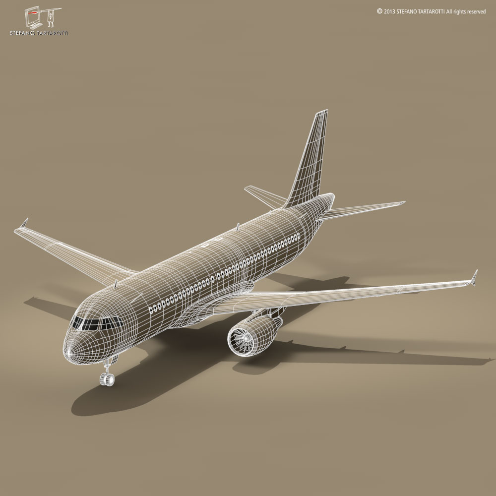 a320-200 airbus 3d загвар 3ds dxf fbx c4d dae obj 211451
