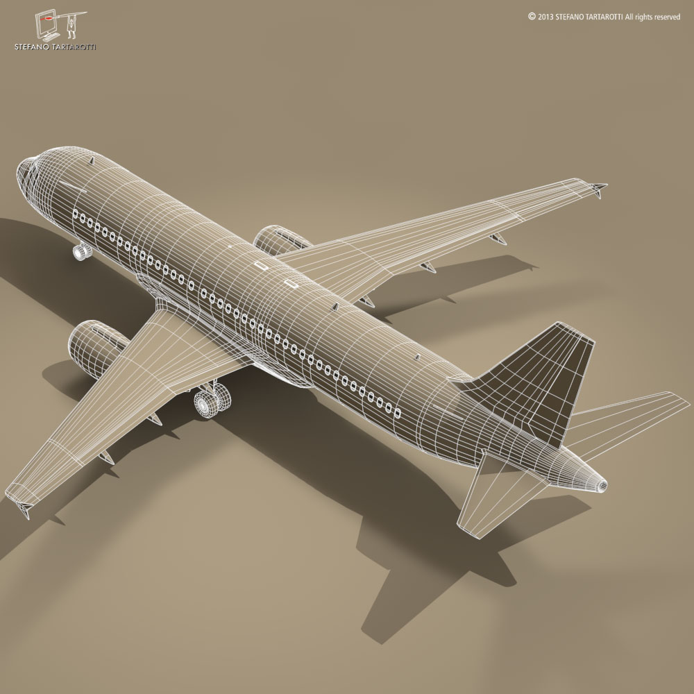 a320-200 airbus 3d загвар 3ds dxf fbx c4d dae obj 211452