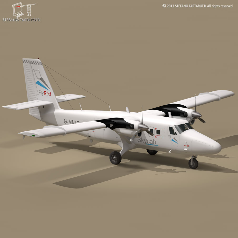 dhc6 twin otter 3d model 3ds dxf fbx c4d dae obj 211465
