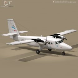 DHC6 Twin Otter 3d model 3ds dxf fbx c4d dae obj