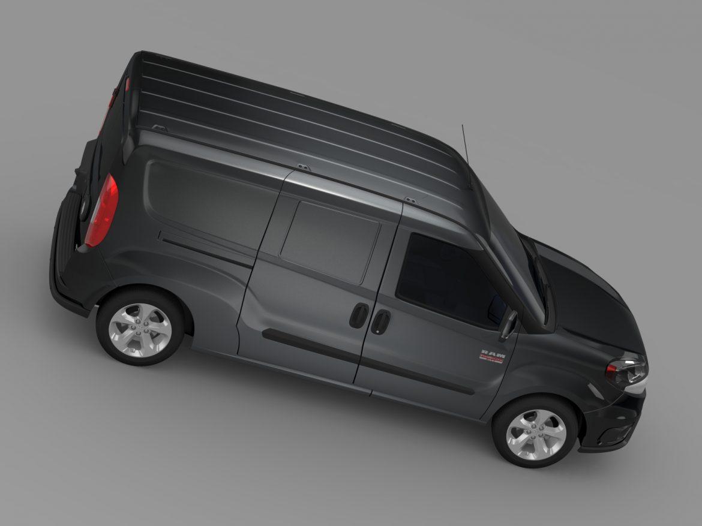 ram promaster city tradesman slt cargo van 2015 3d model 3ds max fbx c4d lwo ma mb hrc xsi obj 211505
