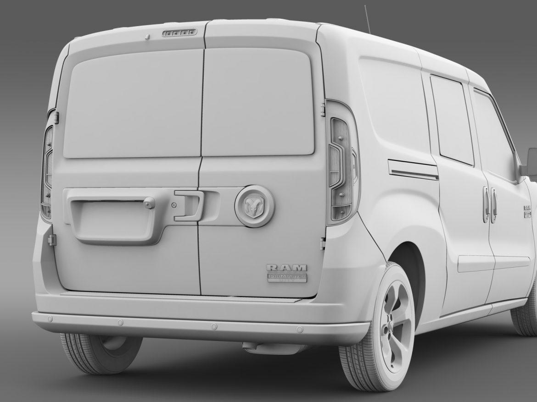 ram promaster city tradesman slt cargo van 2015 3d model 3ds max fbx c4d lwo ma mb hrc xsi obj 211510