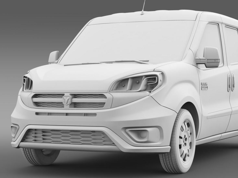 ram promaster city wagon 2015 3d model 3ds max fbx c4d lwo ma mb hrc xsi obj 211529