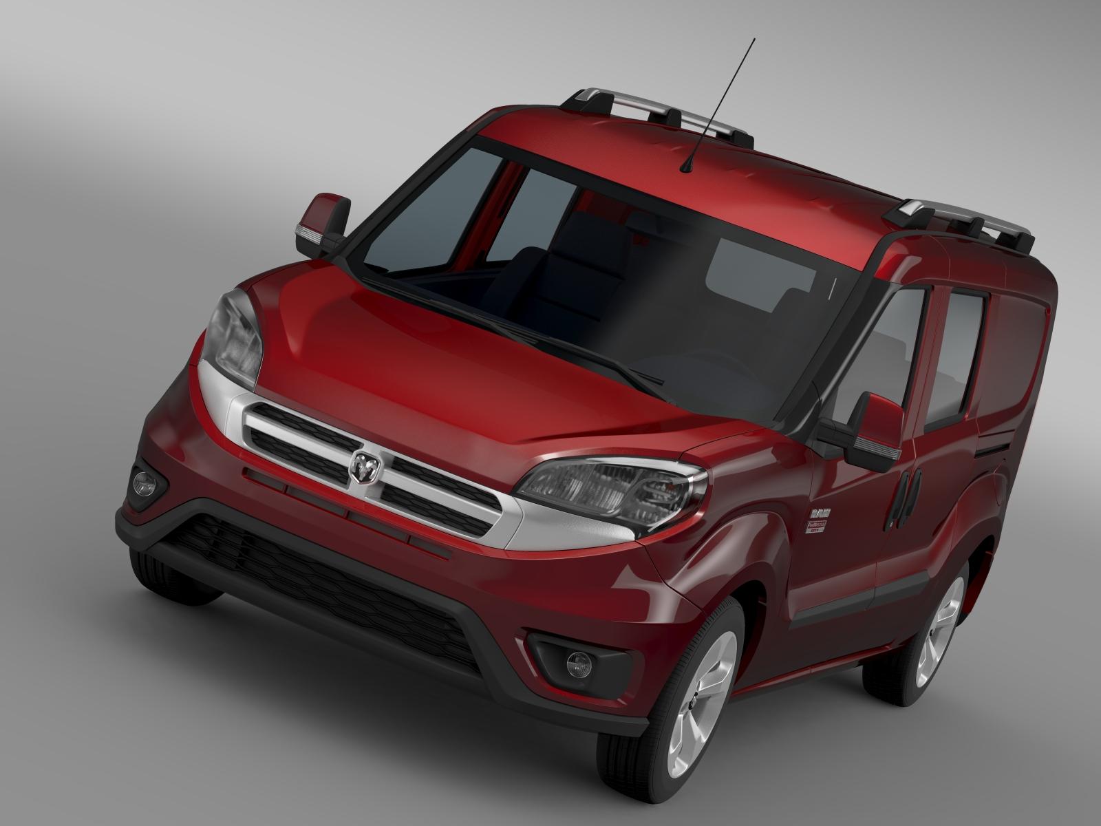 ram promaster city wagon slt 2015 3d model 3ds max fbx c4d lwo ma mb hrc xsi obj 211535