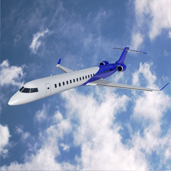 bombardier crj900 commercial aircraft 3d model 3ds fbx blend dae lwo obj 211606