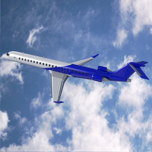 bombardier crj900 commercial aircraft 3d model 3ds fbx blend dae lwo obj 211608