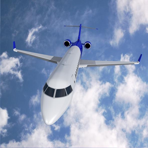 bombardier crj900 commercial aircraft 3d model 3ds fbx blend dae lwo obj 211609