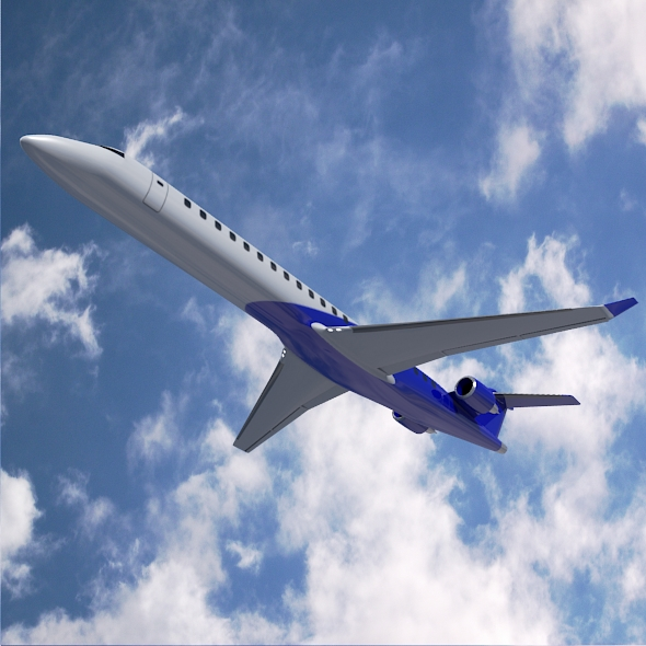 bombardier crj900 komerciālie lidaparāti 3d modelis 3ds fbx blend dae lwo objekti