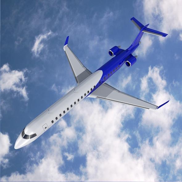 bombardier crj900 commercial aircraft 3d model 3ds fbx blend dae lwo obj 211611