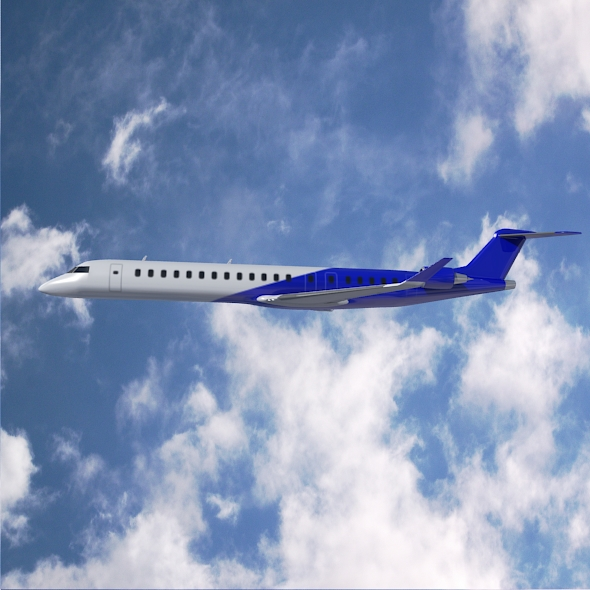 Bombardier crj900 commercial aircraft ( 227.98KB jpg by futurex3d )