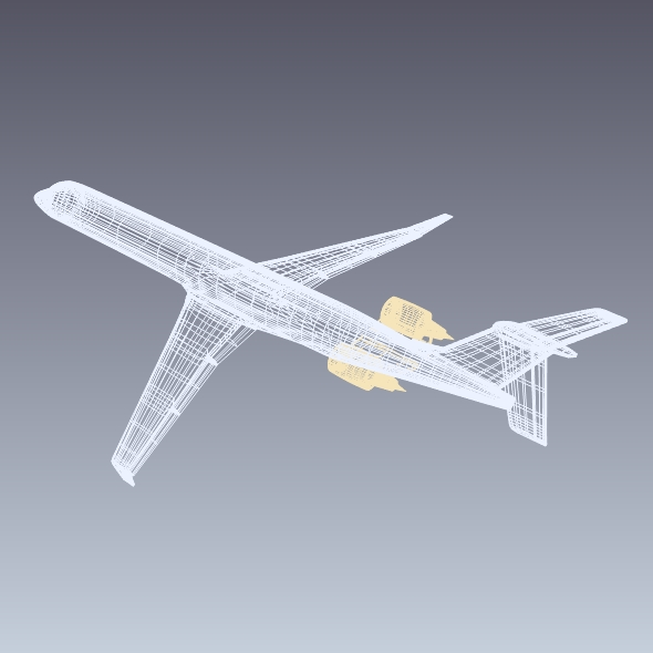 bombardier crj900 commercial aircraft 3d model 3ds fbx blend dae lwo obj 211614