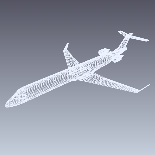 bombardier crj900 commercial aircraft 3d model 3ds fbx blend dae lwo obj 211615